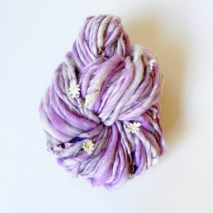 Daisy Chain-Yarn-Knit Collage-Cosmos Purple-The Sated Sheep