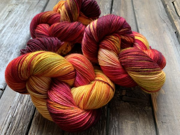 Butterfly BFL-Yarn-Dream in Color-Catching Stars-The Sated Sheep