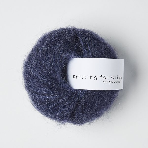 KFO Soft Silk Mohair Lace-Yarn-Knitting for Olive-Dark Blue-The Sated Sheep