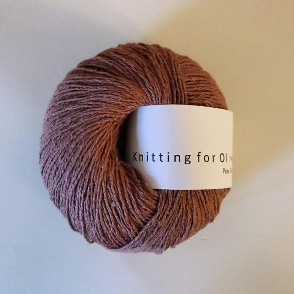 KFO Pure Silk-Yarn-Knitting for Olive-Plum Rose-The Sated Sheep