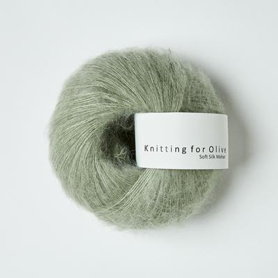 KFO Soft Silk Mohair Lace-Yarn-Knitting for Olive-Dusty Artichoke-The Sated Sheep