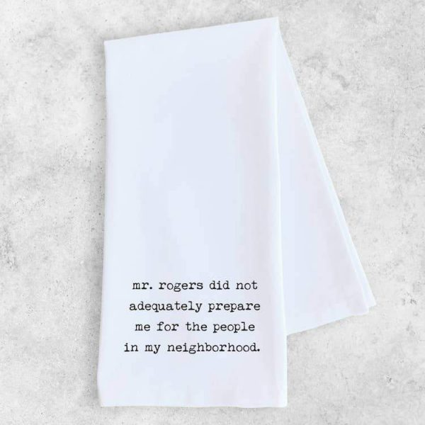 Dev D Tea Towels-Notions-Faire-Mr. Rogers-The Sated Sheep
