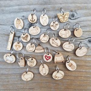 Katrinkles Wood Stitch Markers-Notions-Katrinkles-Dachshund-The Sated Sheep